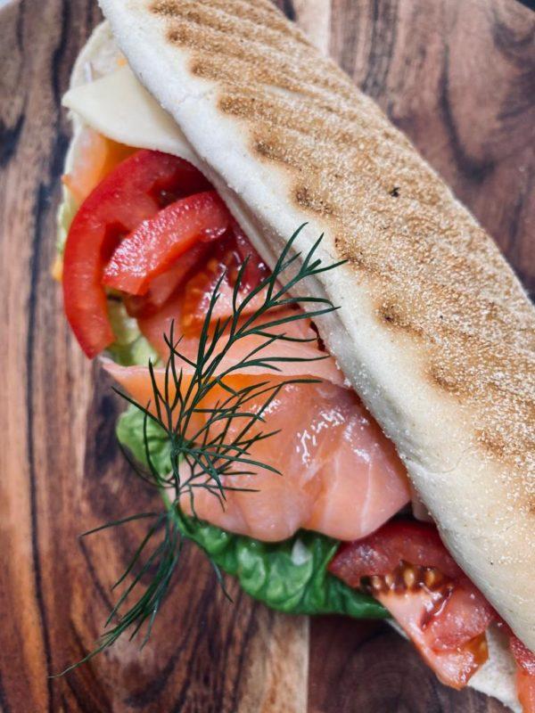 Sandwich mit Räucherlachs